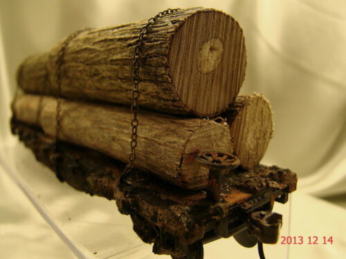 handcrafted -new original look-lot 16 beautiful weathered 6 Logging Cars