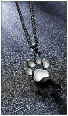 Halskette Hund Katze Pfote Tatze Silber Damen Kinder Mode Schmuck