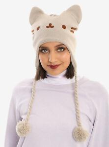 0ec7d1e7ef7 Pusheen The Facebook Cat Beanie Face Ears Tan Laplander Knit Hat Cap ...