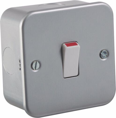 20A metal clad 1G double pôle électrique 230V plaque murale interrupteur-maison ou votre entreprise