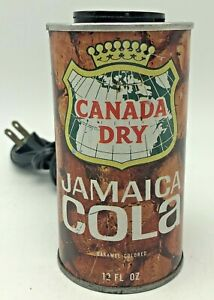 Vintage-Canada-Dry-Jamaica-Cola-Soda-Can-Light-Lamp-1970s