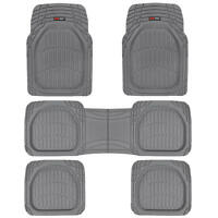 5pc Gray Deep Dish All Weather Heavy Duty Rubber Suv Van Car Floor Mats 3 Row on sale
