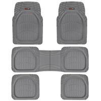 5pc Gray Deep Dish All Weather Heavy Duty Rubber Suv Van Car Floor Mats 3 Row on sale