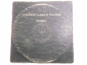 EMERSON LAKE PALMER ELM works Gatefold double LP record RARE INDIA VG+