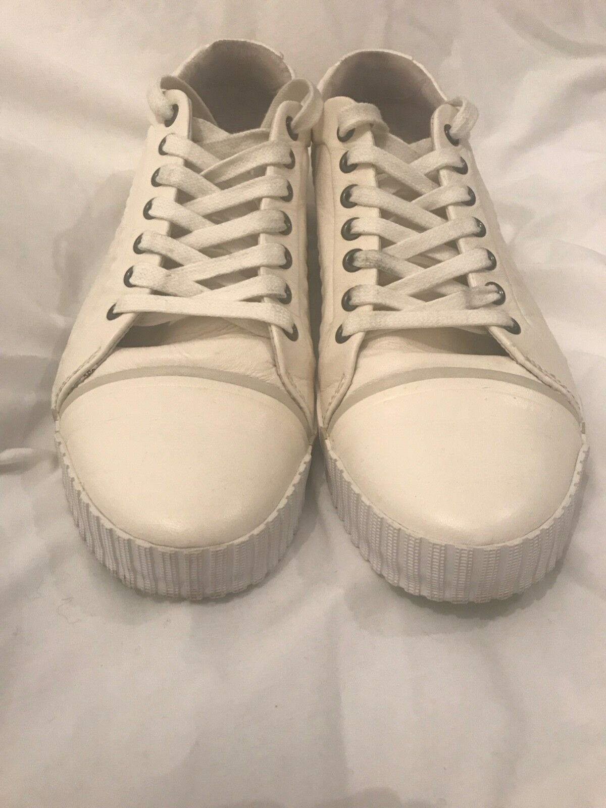 d8952060ae0fd2 Alexander McQueen   Puma AMQ Scarred Street White Leather Mens Trainer UK Size  7
