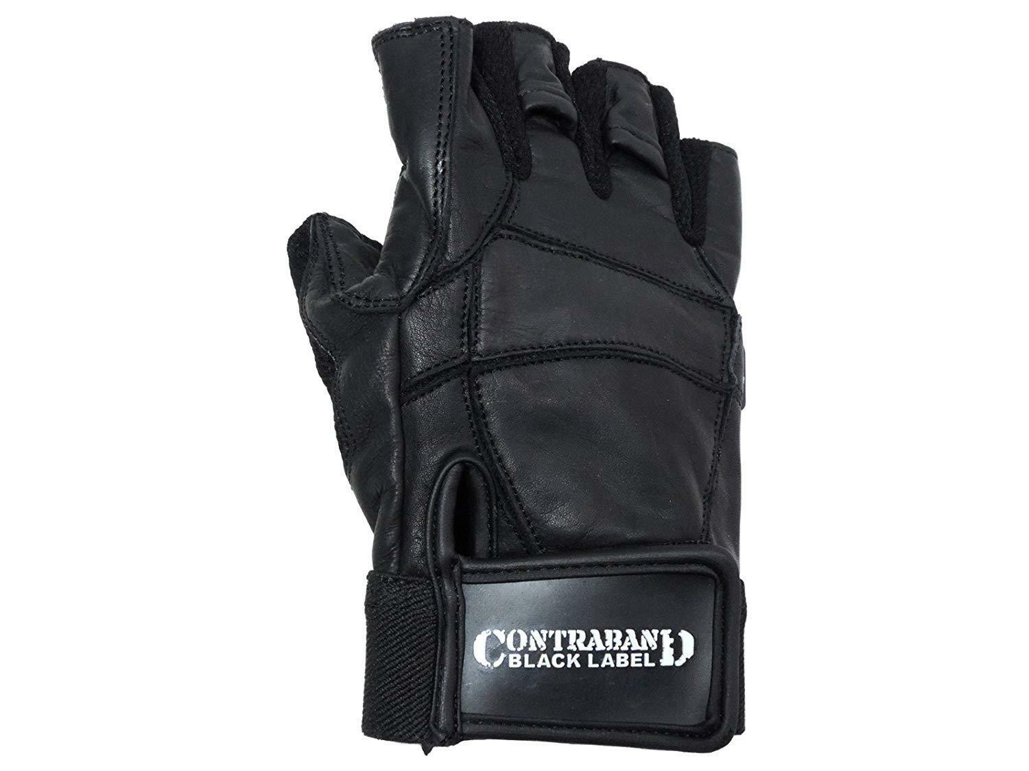 Contraband Black Label 5890 Premium Leather Gloves w Rubber XTREME Traction Pads