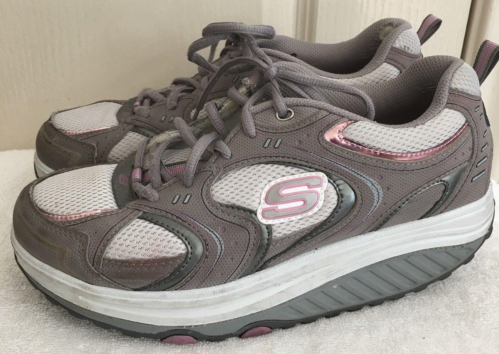 Womens SKECHERS Walking SHAPE UPS 11806 Gray/Purple Toning Walking SKECHERS Shoes SIZE 9.5/39.5 cc3ff4