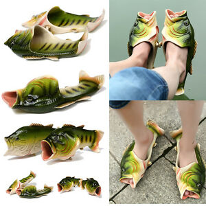 Unisex-Creative-type-personality-fish-sandals-Fish-Beach-Slippers-free-shipping