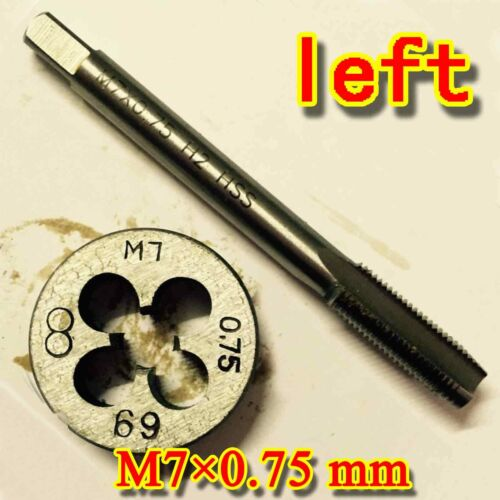 HSS M7 × 0.75 mm left Hand machines tap and die Threading Tool Metric set