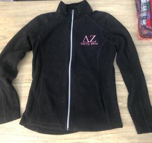 Women's Delta Zeta Noir Full Zip Veste polaire taille XS