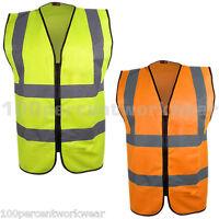 Blackrock Safety High Visibility Hi Vis Viz Zipped Vest Waistcoat Yellow Orange