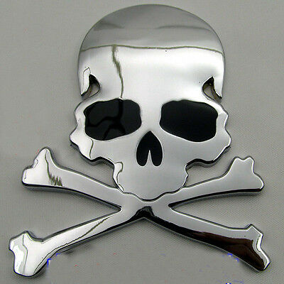 Car Skull Sticker Aluminum Cool High Quality Metal Skull Design Human Skeleton