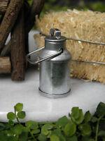Miniature Dollhouse Fairy Garden Accessories Tiny Tin Milk Can