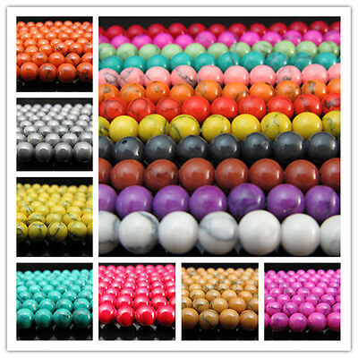Lot Jewelry Making Mixed Turquoise Round Loose Spacer Beads Strand Gemstone 6MM