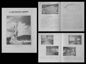 Acheter Pas Cher La Construction Moderne N°46 1934 Rome, Foro Mussolini, Ecole Vitry Sur Seine,