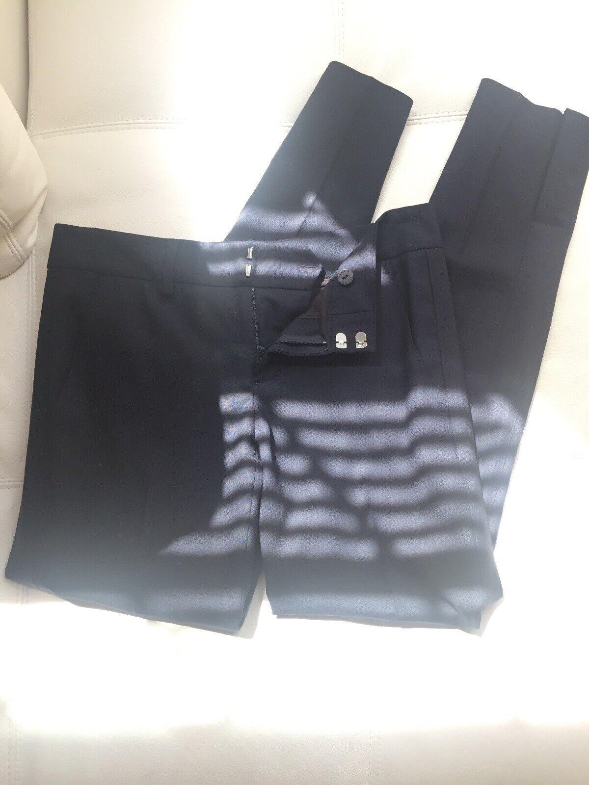 Vince Women's Straight Leg Dress Pants Wool Navy bluee Sz 0