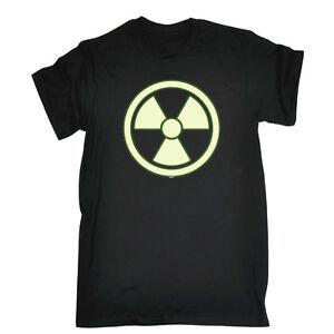 Смешная новинка, футболка, мужская футболка, футболка-радиоактивные свечение в темноте