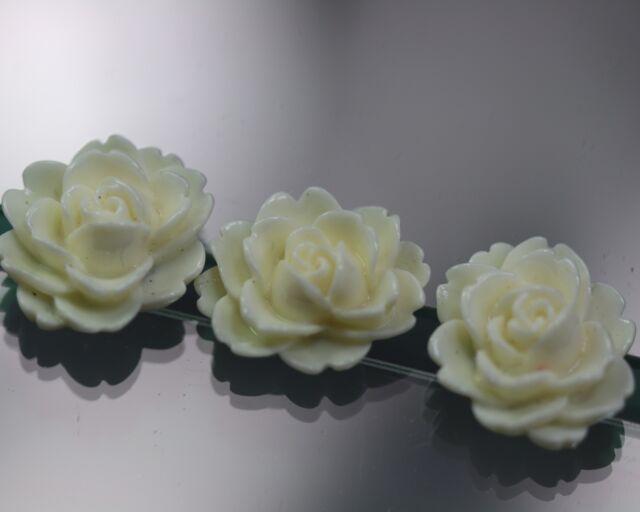 / Sehr hübsches weißes Rosenknopf-Trio - wohl ab 2010