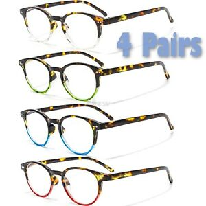 0ae2f0015990 3 4 Pairs Mens Womens Spring Hinge Clubmaster Reading Reader Clear ...