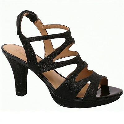 Women Naturalizer DIANNA E5554S9907 Black Glitter Sticking heel Pump Shoes