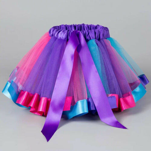 Cute Kids Girl Princess Tulle Tutu Skirt Ballet Dance Party Mini Dress Dancewear