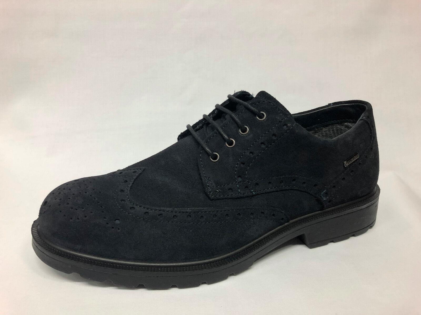 shoes stringate Igi&co camoscio blue Gore-Tex Made in  - 20%