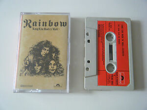 RAINBOW-LONG-LIVE-ROCK-039-N-039-ROLL-CASSETTE-TAPE-1978-RED-PAPER-LABEL-POLYDOR-UK