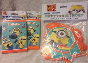 Minions Birthday Party Despicable Me 2 Invitations Thank You Hanging