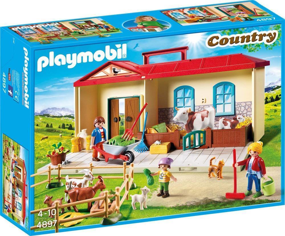 Playmobil Mitnehm Bauernhof mit Spielzeug Tieren & Figuren für Kinder ab 4 NEU