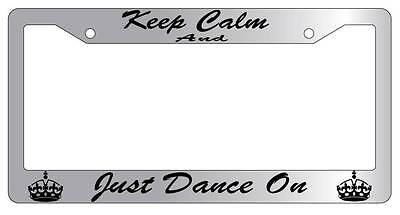 Chrome License Plate Frame Keep Calm And There Can Only Be One Auto Accessory