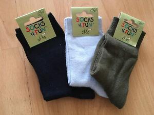3 Paar Socken Söckchen Jungs Gr. 27-30 NEU + OVP tolle Farben