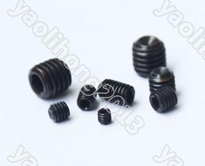100pcs Black Allen Head Socket Hex Set Grub Screw Cup Point Assortment Kit Steel