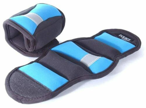 Pair Tone Fitness Wrist//Ankle Weights Blue 1.5 Pound Pair 3-Pound