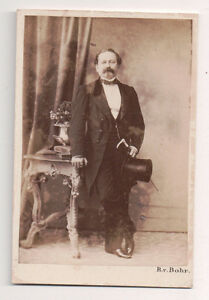 Vintage-CDV-Austrian-Noble-Top-Hat-R-Von-Bohr-Photo-Vienna
