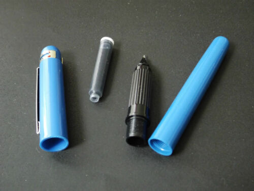 WALKER Italy NEW OLD STOCK 80s fountain pen sell-out cartridge BLUE.