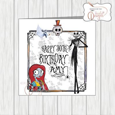 Stupendous Nightmare Before Christmas Birthday Card Gothic Daughter Funny Birthday Cards Online Ioscodamsfinfo