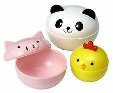 CuteZCute Mayo Cups for Bento Box Lunch  Mini  Panda  Chick and Pig