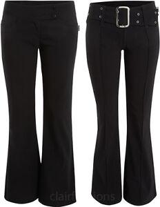 vita bassa da donne 16 6 vita neri elasticizzati delle a bassa donna Pantaloni Pantaloni nuove bootcut a dfgOxYOv