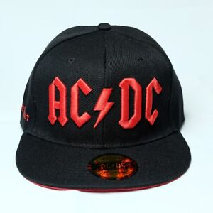 5d5842fd9 Details about ACDC - AC/DC - RED LOGO FLAT BRIM SNAPBACK HAT - Official  Headwear & Shirt