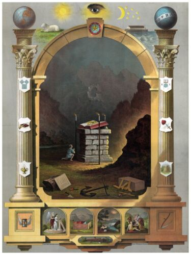 High Quality POSTER on Paper or Cotton Canvas.Decor Art.Masonic Lodge.4169