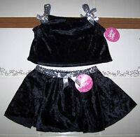 Dottie Loves Costume Velvet Black Silver Set Outfit Top Skirt Cute Girl