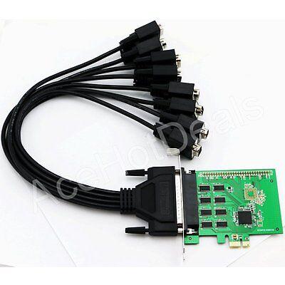 PCI Express PCI-E 8 Port Serial RS-232 COM DB9 Card Adapter Converter