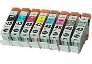8 Pack Printer Ink Cartridge Combo full Set for Canon Pixma CLI-42 Pixma Pro 100