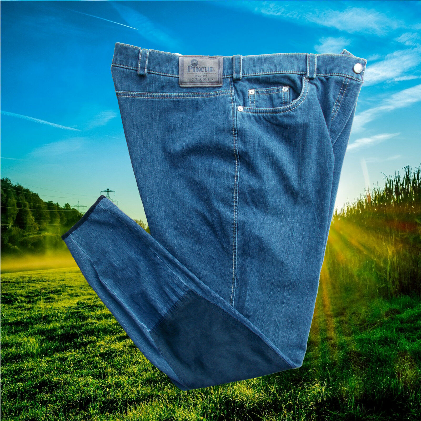 Pikeur Reithose LAVINIA, Vollbesatz, blau, Jeansreithose,Pikeur Lavinia, Jeans