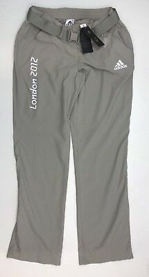 Olympic Memorabilia Frank Sw378 Adidas London Olympics 2012 Womens Vik Beige Trousers With Belt Sz 10 Uk