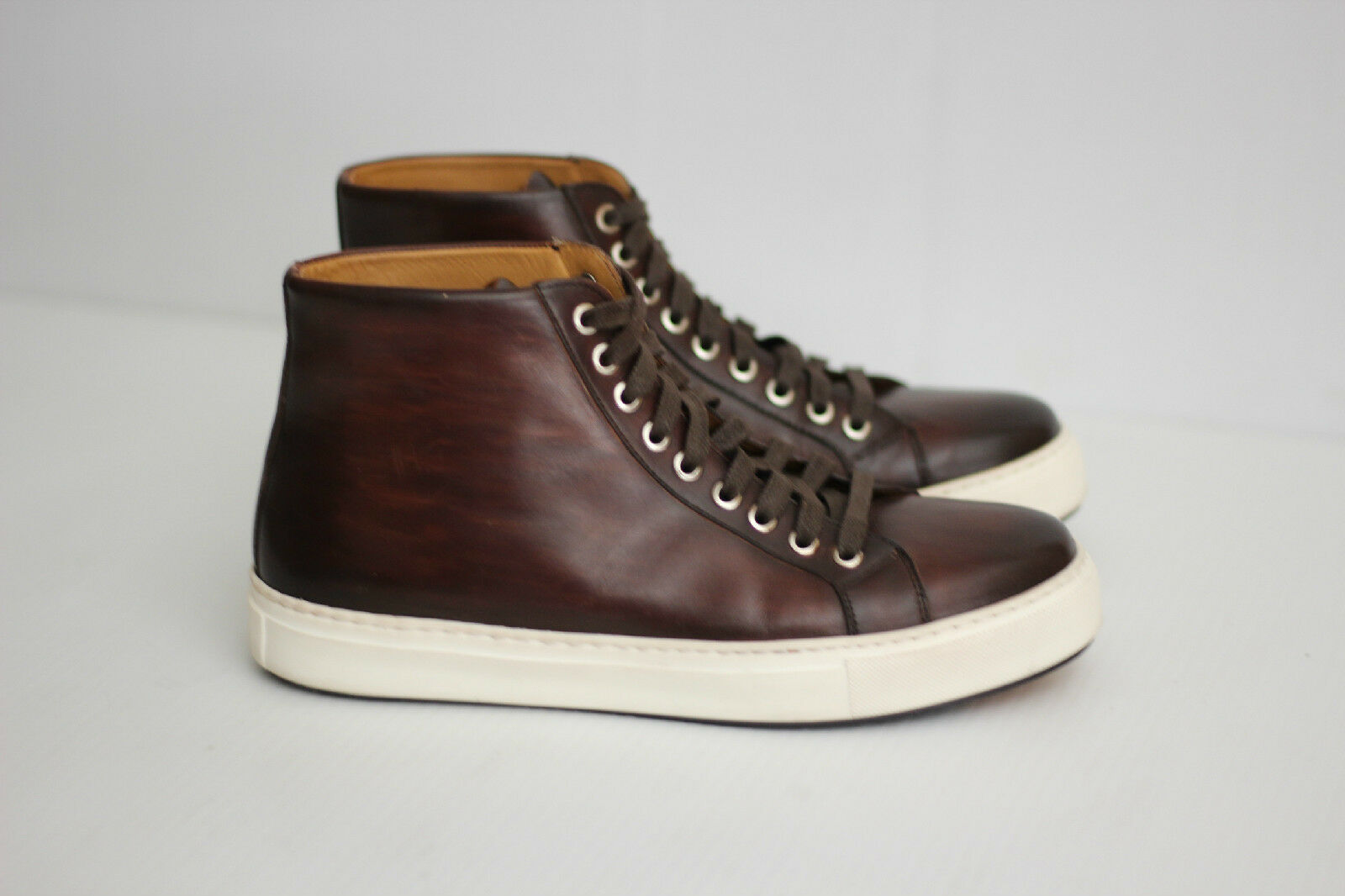 Magnanni 'Brando' High Top  Pelle Lace Up - Mid Brown - Size 7M  (U7)