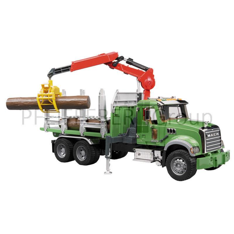 Bruder MACK Granite Holztransport-LKW 1 16 Spielzeug Lastwagen Modell
