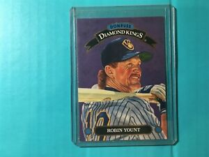 1993-Donruss-Diamond-Kings-Robin-Yount-DK-16-Brewers-HALL-OF-FAME