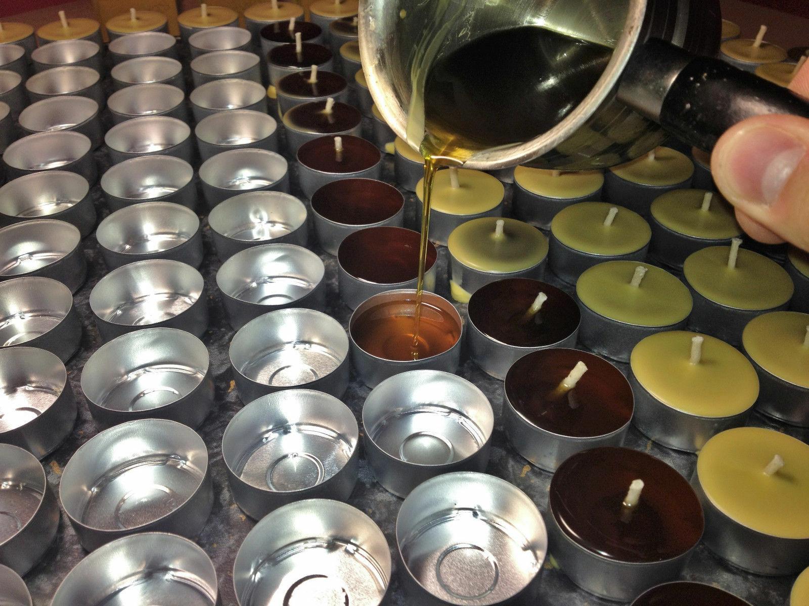 PROMOTION    200 pcs HANDMADE 100% BEESWAX TEA LIGHTS