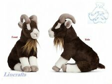 Sitting Brown Goat Plush Soft Toy by Living Nature. 20cm AN408